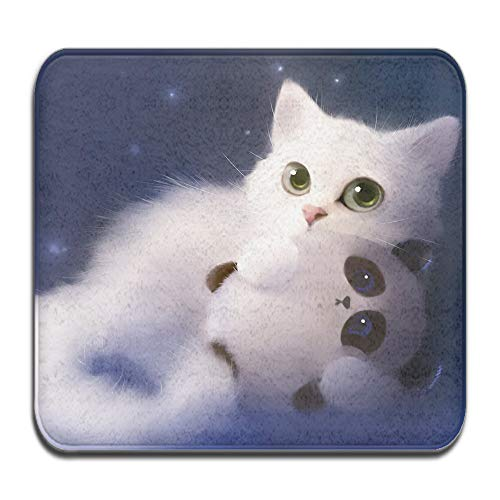 Cute cat elf apofiss 2-Piece Soft Bath Rug Set Includes Bathroom Mat Contour Rug Home Decorative Doormat