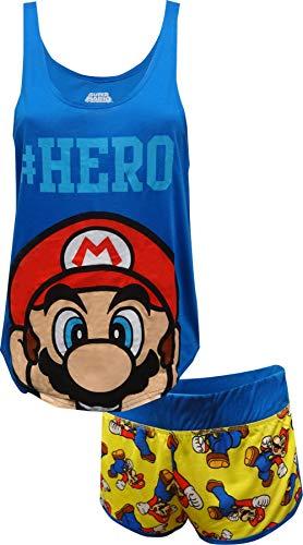 MJC Nintendo Super Mario #Hero Shortie Pajama For Women -