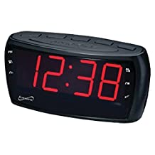 Supersonic SC-379 Digital AM/FM Dual Alarm Clock Radio with Jumbo Digital...