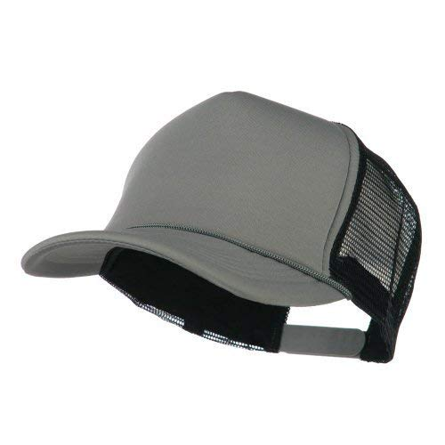 Summer Foam Mesh Trucker Cap - Grey Black OSFM