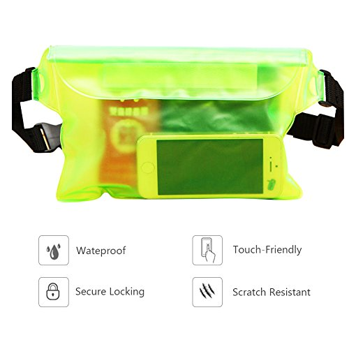 Wasserdichte Tasche Beuteltasche Eco-Friendly Kcdream Tpu Transparent Sealed System Bau Trocken Unterwasser Telefon Armband Halter Universal Durable Touch Responsive Wasserdicht Outdoor Bootfahren Kay Grün