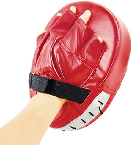 YIRANLT ムエタイキックボクシング、トレーニングPUフォームボクサーターゲットパッド用ブラックレッドボクシンググローブパッド