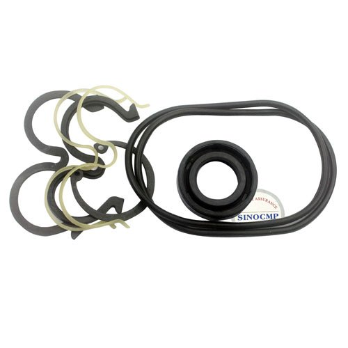 SK200-6E 2PCS Gear Pump Seal Kit - SINOCMP Service Seal Kits for Kobelco SK200-6E Excavator Parts, 3 Month Warranty:
