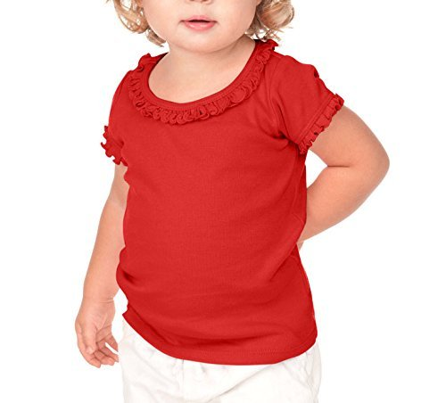 Kavio! Infants Sunflower Short Sleeve Top Red 24M - Edge T-shirt