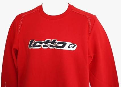 Lotto Colin – Sudadera Polar para Hombre, Flame/níquel, Color Rojo, tamaño
