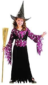 Disfraz de bruja para niña ideal para Halloween: Amazon.es ...