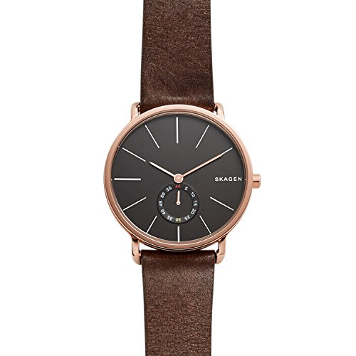 Skagen-Mens-SKW6213-Hagen-Dark-Brown-Leather-Watch