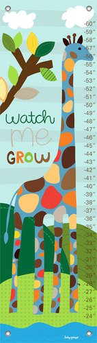 Oopsy Daisy Growth Charts Watch Me Grow Boy - Giraffe Growth Chart Canvas