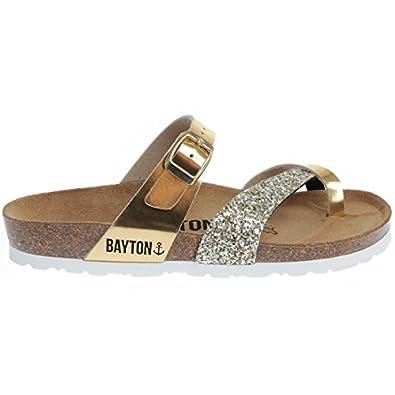 Bayton - Tongs / Sandales - Athena-rose Fluo - Taille 41 - Rose wIdxN