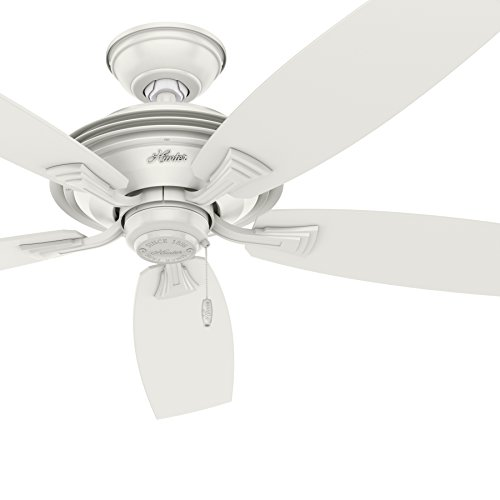 Energy Star Rated Hunter 52 In  Outdoor Ceiling Fan In Fresh White  Wet Rated For Covered And Uncovered Applications  Certified Refurbished