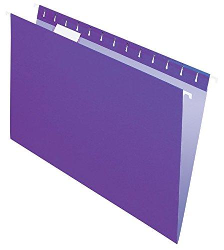 (Office Depot 2-Tone Hanging File Folders, 1/5 Cut, 8 1/2in. x 14in, Legal Size, Purple, Box of 25, OD81631)