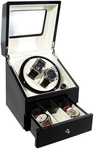 Caja rotor automática de lujo para dos relojes automáticos, con cajón y 4 modos de movimiento, motor silencioso, de CKB Ltd: Amazon.es: Hogar