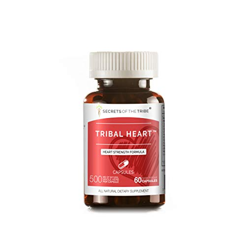 Tribal Heart - Tribal Heart 60 Capsules, 500 mg, Cayenne, Ginger, Hawthorn Leaf and Flower, Hawthorn Berry, Rosemary, Motherwort. Heart Strenght Formula (60 Capsules)
