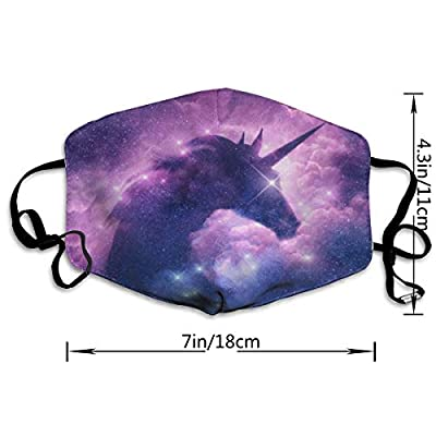 Face Mask Unicorn Silhouette Gaalxy Nebula Marvellous Cycling Half Face Earloop Face Mask for Boys