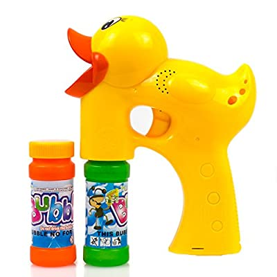Toysery Duck Bubble Shooter Gun Toy - Lightweight Premium Quality Bubble Gun with Sound and Music - Bubble Blaster with Thousands of Colored Bubbles for Kids - Battery Operated Bubble Blower Gun: Toys & Games