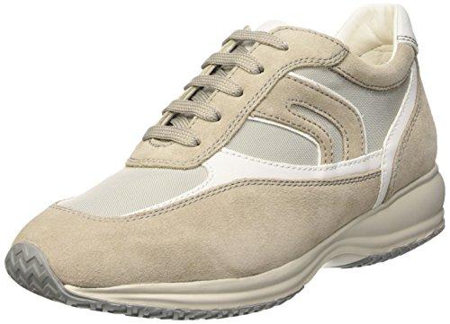 Geox U Happy Art.p, Men's Flatform Pumps Beige (Shells/White)