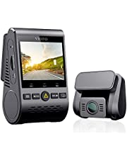 VIOFO Kamera Dash Cam A129 Duo Dual Full HD 1080P Sony Sensor przednie i tylne kamery super noktowizor 5 GHz Wi-Fi GPS w zestawie, buforowany tryb parkowania, wykrywanie ruchu, czujnik G, WDR