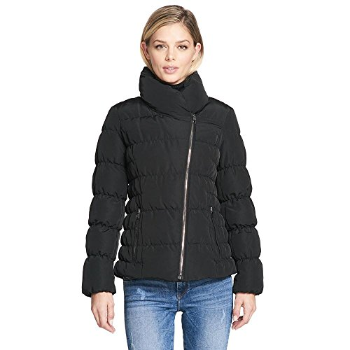 Wilsons Leather Womens Web Buster Kenneth Cole Asymmetric Zip Down Puffy (Leather Down Jacket)