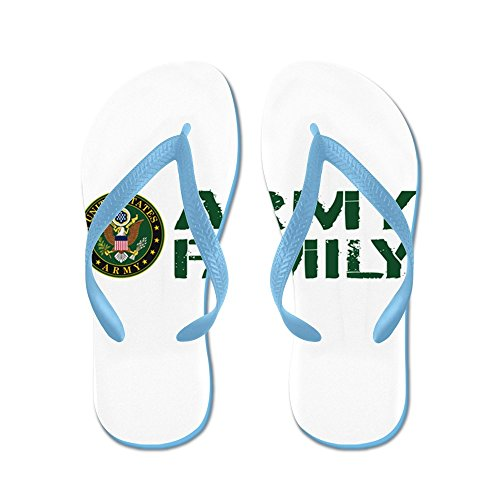 CafePress U.S. Army: Army Family (Green & White) - Flip Flops, Funny Thong Sandals, Beach Sandals Caribbean Blue