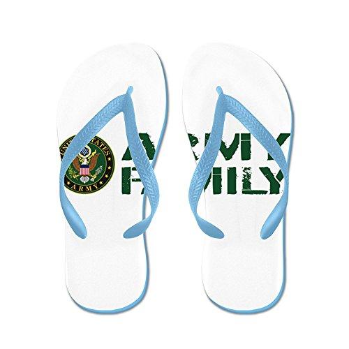 Cafepress Oss Armé: Armé Familj (grön & Vit) - Flip Flops, Roliga Rem Sandaler, Strand Sandaler Caribbean Blue