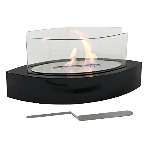 Sunnydaze Barco Ventless Tabletop Bio Ethanol Fireplace, Black by Sunnydaze Decor (Image #4)