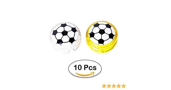 DISOK - Lote 10 Yoyos Futbol Luces - Yoyos, yo yos Infantiles, Niños, Adolescentes. Regalos Originales, Detalles y Recuerdos para Niños, Fiestas ...
