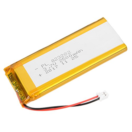 uxcell® Power Supply DC 3.7V 2500mAh 823282 Li-ion Rechargeable Lithium Polymer Li-Po Battery