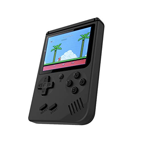 Cywulin Retro Mini Handheld Video Game Player Console Gameboy Built-in 500 Classic Games Travel Portable Gaming System Electronics Machines 3 Inch Support TV Play Present for Boy Kids Adult (Black)