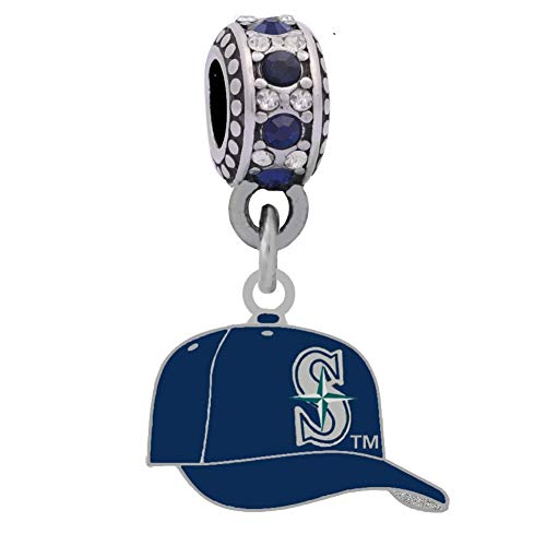 Final Touch Gifts Seattle Mariners Logo Charm Fits Most Bracelet Lines Including Pandora, Cham Ilia, Troll, Biagi, Zable, Kera, Personality, Reflections, Silverado and More ...