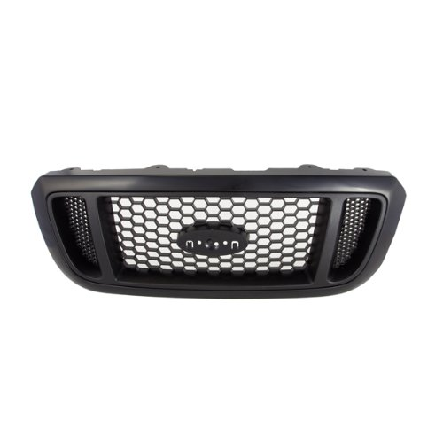 Honey Comb Style Front Black Grille Grill Pickup Assembly, 400-18147 FO1200460 4L5Z8200DAF ()