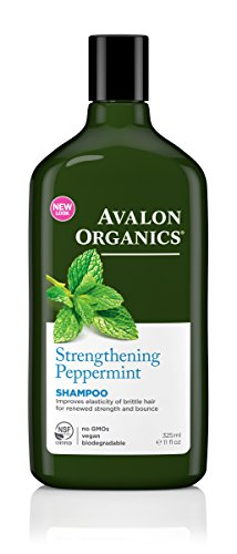 Avalon Organics Shampoo, Strengthening Peppermint, 11 Fluid Ounce