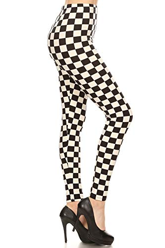 Leggings Depot Women's Ultra Soft Printed Fashion Leggings BAT1