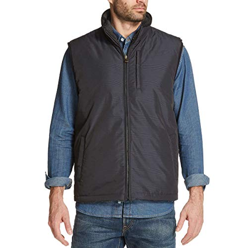 - Weatherproof Vintage Men's Reversible Vest (XXL, Grey Plaid)