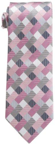 Geoffrey Beene  Men's Silk Tie With Gift Box,Pink,One Size