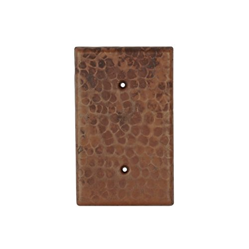 Premier Copper Products SB1 Hand Hammered Copper Switch Plate Cover, Oil Rubbed Bronze by Premier Copper Products