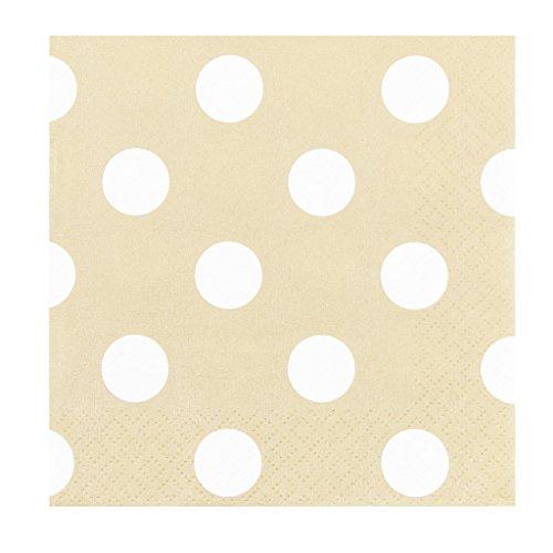 JAM Paper Small Polka Dot Beverage Napkins - 5
