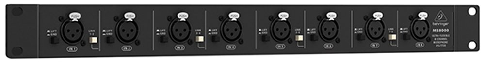 Behringer UltraLink MS8000/Patch Baie Microphone R/épartiteur