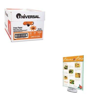 KITDEF691590UNV21200 - Value Kit - Deflect-o Superior Image Swivel Sign Holder (DEF691590) and Universal Copy Paper (UNV21200)