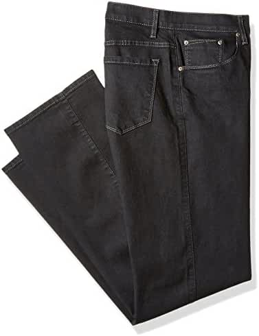Savane Men's Big and Tall Active-Flex Black Rinse Stretch-Denim Jean