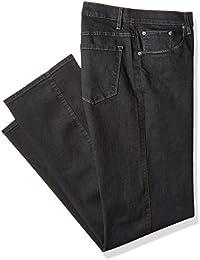 Men's Big and Tall Active-Flex Black Rinse Stretch-Denim Jean