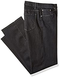 Savane Men's Big and Tall Active-Flex Black Rinse Stretch-Denim Jean