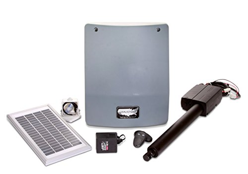 Iron Gate Single Panel - USAutomatic 020330 Medium 300 Solar Charged Automatic Gate Opener Single Gate Basic Kit