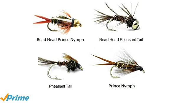 1 DOZEN GOLD BEAD HEAD PHEASANT TAIL  NYMPHS FOR FLY FISHING BH-10