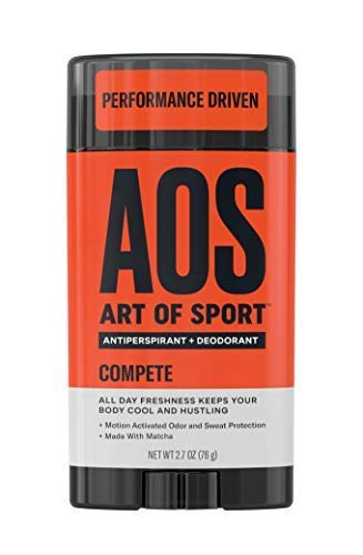 Art of Sport Men's Antiperspirant Deodorant Stick, Compete Scent, Athlete-Ready Formula with Matcha, 2.7 oz. Best Natural Deodorant
