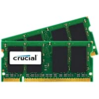 MICRON CPG 4 GB (2 x 2 GB) - DDR2 SDRAM - 800 MHz DDR2-800/PC2-6400 - 1.80 V - Non-ECC - Unbuffered - 200-pin - SoDIMM FOR MAC / CT2K2G2S800M /
