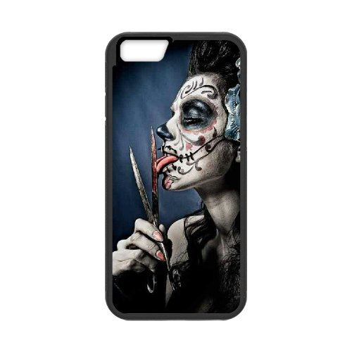 iPhone 7 Case, with Best Seller Day of The Dead Suger Skull Girl 3.[KikiBang] (Tattoo Skull Face)