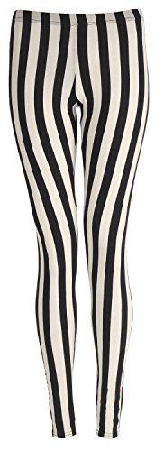 Striscia di 22 formato stampati sexy di signore jeggings pantaloni elastico leggings Janisramone Verticale Donne Sottile 8 TqnpOO
