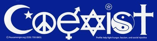 Image result for coexist sticker
