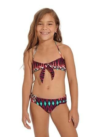 Amazon.com: Onda de Mar Girl's Java Bikini-16-Tribal