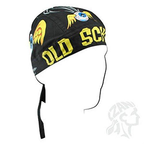 Old School Eye & Wing Tribal Pinstripe Maltese Doo Rag Headwrap Skull Cap Biker